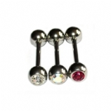 6mm Gem Ball Tongue Bar