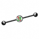 Bah Hum Bug Black Scaffold Barbell