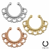 Intricate Fan Fake Septum Clicker