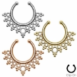 Lace Edged Fake Septum Clicker