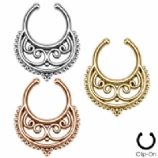 Swirly Crescent Fake Septum Clicker