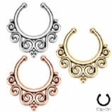 Tribal Swirls Fake Septum Clicker