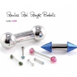IS Steel Straight Barbell - With Standard Balls