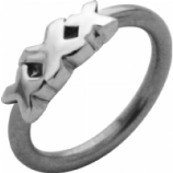 Triple X Straight Edge BCR Ball Closure Ring