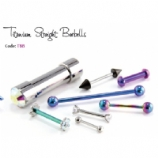 IS Titanium Straight Barbell - Post Only, Balls Sold Separately