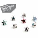 IS Titanium Star With Swarovski Crystal / Faux-Pal