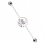 Two Way Belly Piercing Bar For Double Navel Piercings