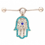 Crystal Hamsa Hand Scaffold Bar