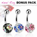 Flower DiscoBall Belly Bars Value Pack