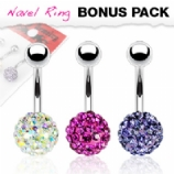 Single DiscoBall Belly Bars Value Pack - Iridescent, Fuchsia Pink & Lilac