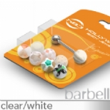 UV Balls Novelty Tongue Bar Value Pack - White - 8 Designs In One Pack