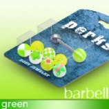 UV Balls Novelty Tongue Bar Value Pack - Green - 8 Designs In One Pack